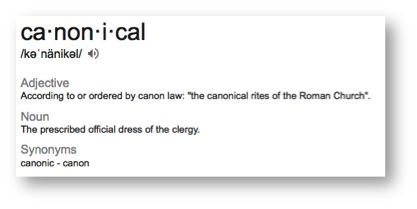 Definition of canonical