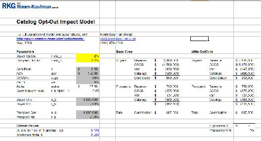 catalog planning spreadsheet