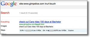 Google iframe test results serp