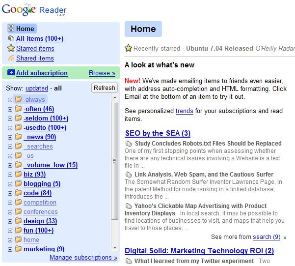 google reader tagging