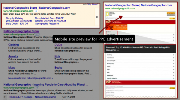 national geographic shop PPC ad preview