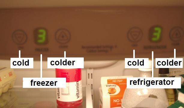 refrigerator controls