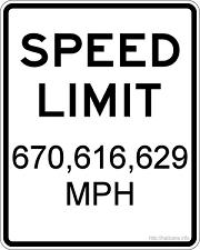 spped of light -- the upper limit on speed