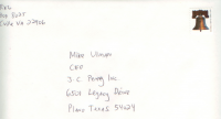 letter to mike ullman, JC Penney CEO, the envelope