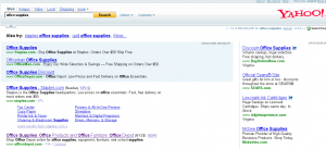 "Yahoo Search for ""Office Supplies"""